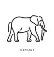 elephant outline logo minimalistic logo simple vector image