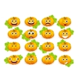 emoticon pumpkin vector image vector image