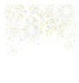 fireworks festive and event background vector image vector image