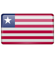 Flags Liberia in the form of a magnet on vector image vector image