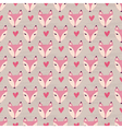 Fox with heart seamless pattern vector image
