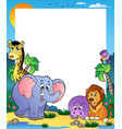 frame with tropical animals 1 vector image vector image