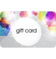 Futuristic Gift Card Design vector image vector image