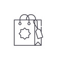 gift bag line icon concept gift bag linear vector image vector image