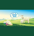 goat and kid vector image vector image