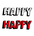 happy hand drawn vector image