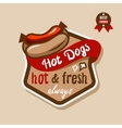 hot dogs emblem 3 vector image vector image