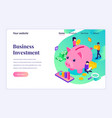 isometric landing page design concept vector image vector image