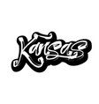kansas sticker modern calligraphy hand lettering vector image vector image