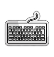 keyboard hardware isolated icon vector image