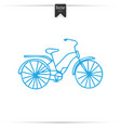 kid doodle of bicycle with isolated vector image vector image