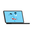 laptop winks emoji face avatar computer lucky vector image vector image