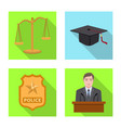 law and lawyer sign vector image vector image