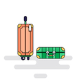 Luggage bags with wheels vector image