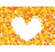 Maple heart vector image