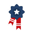 memorial day rosette ribbon decoration american vector image vector image