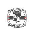 men barber shop vintage logo design inspiration vector image vector image
