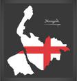 merseyside map england uk with english national vector image vector image