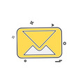 message icon design vector image vector image