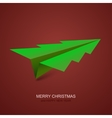 modern concept christmas tree and origami vector image vector image