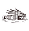 modern ecologically clean building vector image