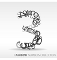 number three design elements vector image vector image