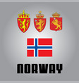 official government elements of norway vector image vector image