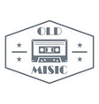 old music logo simple style vector image vector image