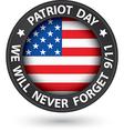 patriot day 11th september black label we vector image