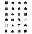 Real Estate Solid Icons 3 vector image vector image