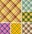 set of plaids vector image vector image