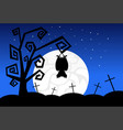 silhouette monsters in moonlight scary shadows vector image vector image