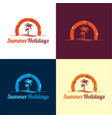 summer holidays logo and icon vector image