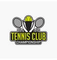 tennis club badge logo-9 vector image vector image