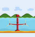 tidal power station vector image vector image