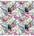 tropical protea pattern vector image