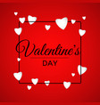 valentines day poster print black frame with heart vector image