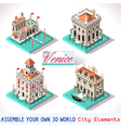 Venice 02 Tiles Isometric vector image vector image