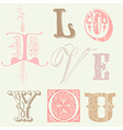 Vintage letters vector | Price: 1 Credit (USD $1)