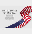 waving flag template for independence day vector image