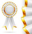 White award ribbon vector image vector image