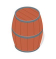 wood barrel of beer icon isometric style vector image vector image