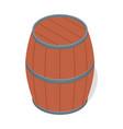 wood barrel of beer icon isometric style vector image