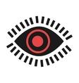 colorful eye and eyelashes graphic vector image