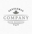 Gentleman Hat Vintage Retro Design Elements for vector image