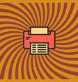 printer icon simple line cartoon vector image