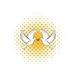 Wedding two doves comics icon vector image