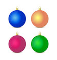 3d realistic christmas glass balls vector image