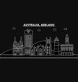 adelaide silhouette skyline australia - adelaide vector image
