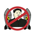 anti kim jong-un control nuclear flat design vector image vector image